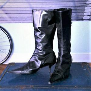 Vintage ZARA kitten heel boots, buckle detail, 39
